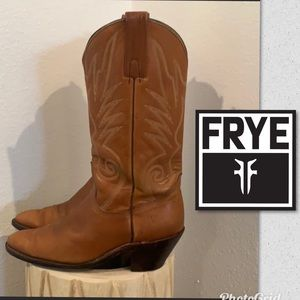 Auth Frye Vintage mens leather cowboy boots sz 10